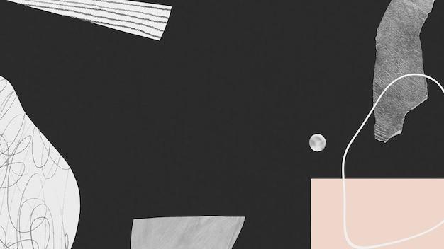 Abstrakter handgezeichneter gekritzelstrich und texturhintergrund