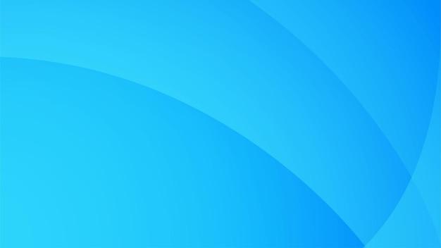 Abstrakter hellblauer breiter hintergrund mit radialen blauen farbverläufen, die vom unteren linken rand kommen.
