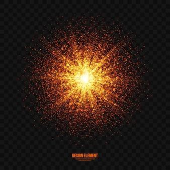 Abstrakter heller explosions-effekt-transparenter vektor