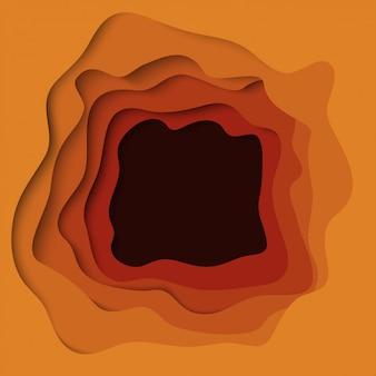 Abstrakter herbstsaisonwellenhintergrund mit papierschnittformen.