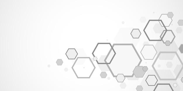 Abstrakter hexagonhintergrund, polygonales konzept der technologie