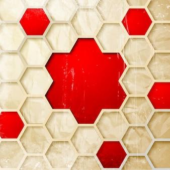 Abstrakter hexagonhintergrund.