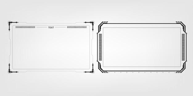 Abstrakter high-techer futuristischer schablonendesign-planhintergrund