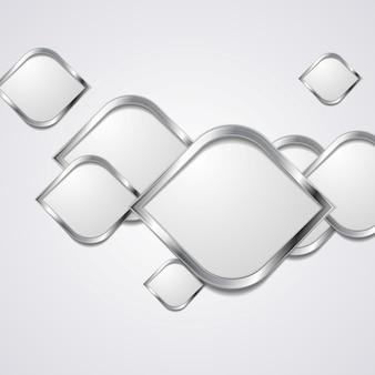 Abstrakter hightech- metallischer hintergrund. vektordesign