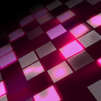Abstrakter hightech- rosa hintergrund in der perspektive