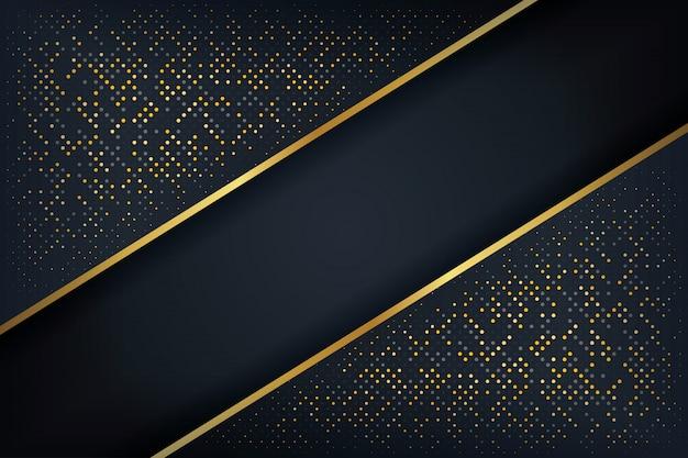 Abstrakter hintergrund 3d mit einer kombination der leuchtenden punkte in der art 3d.