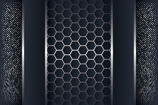 Abstrakter hintergrund 3d mit einer kombination von leuchtenden polygonen.