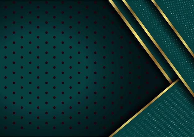 Abstrakter hintergrund 3d mit grünen schichten