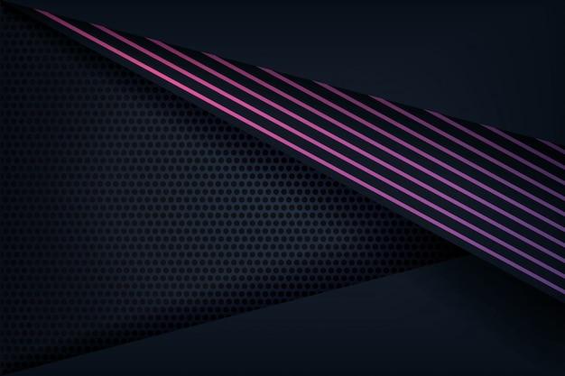 Abstrakter hintergrund 3d mit purpurroten linien