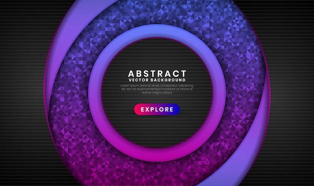 Abstrakter hintergrund 3d mit purpurroter und rosa steigung auf dunklem raum