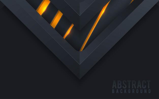 Abstrakter hintergrund 3d mit schwarzen papierschichten.