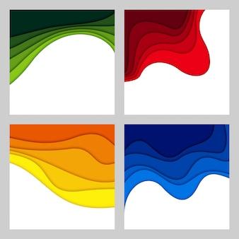 Abstrakter hintergrund 3d und papierschnittformen