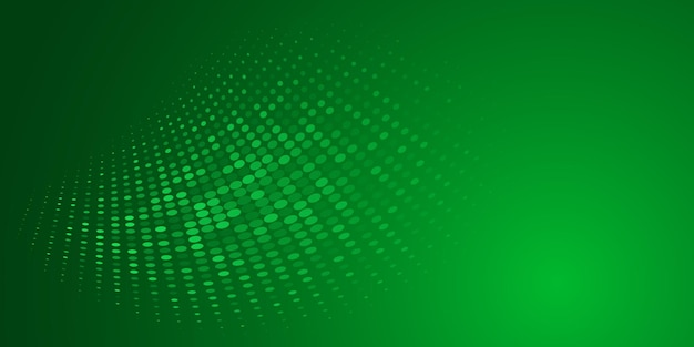 Abstrakter hintergrund aus halbtonpunkten in grünen farben