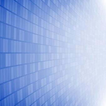 Abstrakter hintergrund aus kleinen quadraten oder pixeln in blauen farben