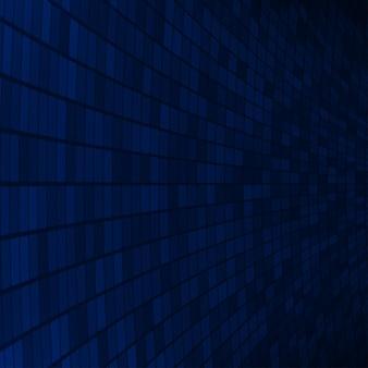 Abstrakter hintergrund aus kleinen quadraten oder pixeln in dunkelblauen farben
