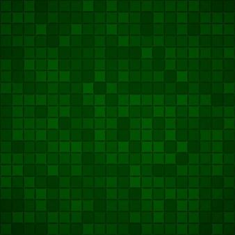 Abstrakter hintergrund aus kleinen quadraten oder pixeln in dunkelgrünen farben