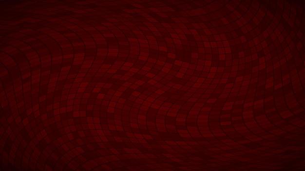 Abstrakter hintergrund aus kleinen quadraten oder pixeln in dunkelroten farben