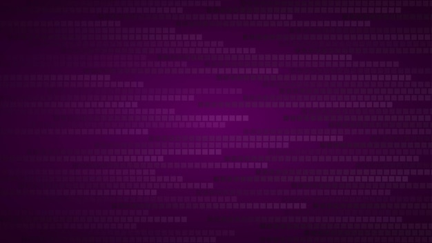Abstrakter hintergrund aus kleinen quadraten oder pixeln in dunkelvioletten farben