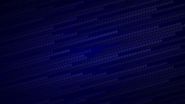 Abstrakter hintergrund aus kleinen quadraten oder pixeln in dunklen blautönen