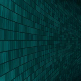 Abstrakter hintergrund aus kleinen quadraten oder pixeln in dunklen türkisfarben