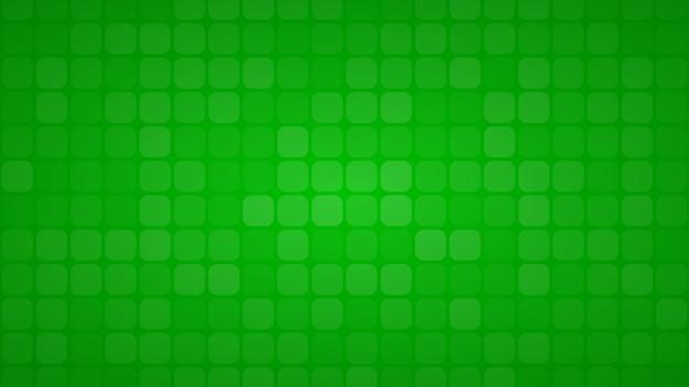 Abstrakter hintergrund aus kleinen quadraten oder pixeln in grünen farben