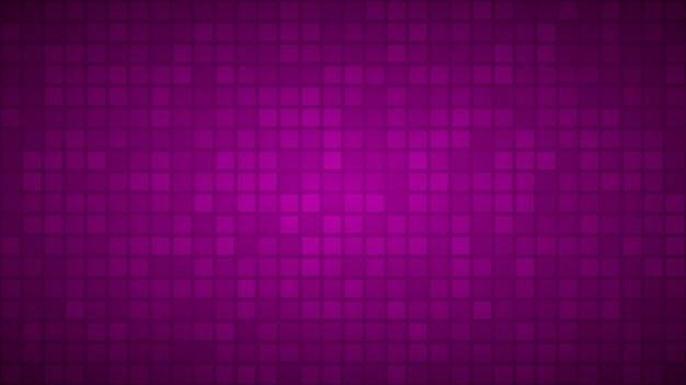 Abstrakter hintergrund aus kleinen quadraten oder pixeln in lila farben.