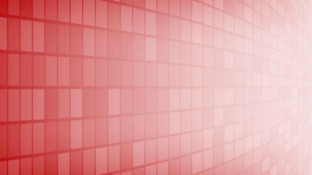 Abstrakter hintergrund aus kleinen quadraten oder pixeln in roten farben