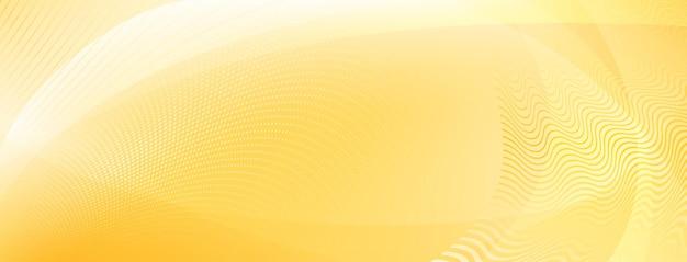 Abstrakter hintergrund aus kurven und halbtonpunkten in gelben farben