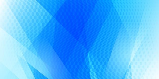 Abstrakter hintergrund aus punkten und sich schneidenden linien in hellblauen farben