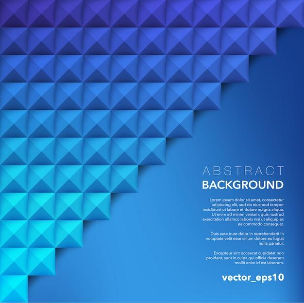 Abstrakter hintergrund. blauer geometrischer hintergrund.