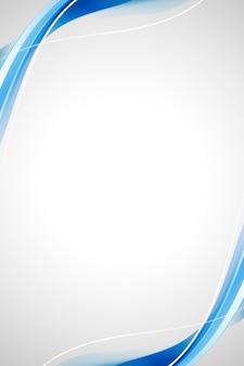 Abstrakter hintergrund der blauen kurve