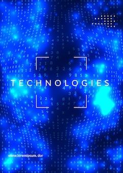 Abstrakter hintergrund der digitaltechnik. künstliche intelligenz,