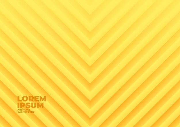 Abstrakter hintergrund der gelben geometrischen welle.
