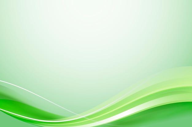 Abstrakter hintergrund der grünen kurve