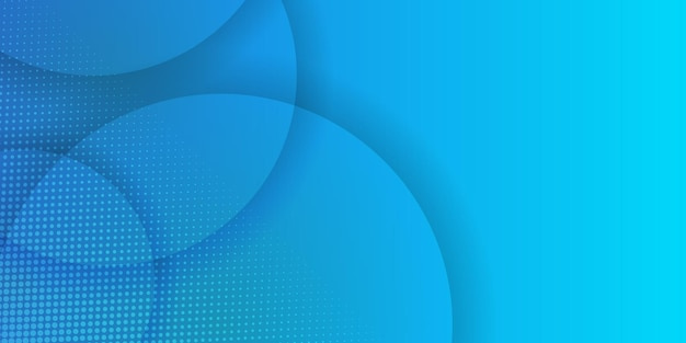 Abstrakter hintergrund der kreise in den hellblauen farben mit halbtondekoration.