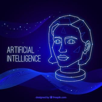 Abstrakter hintergrund der künstlichen intelligenz