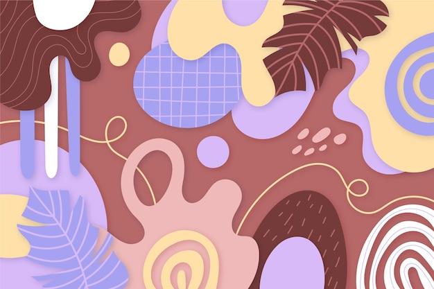 Abstrakter hintergrund der papierart mit blättern