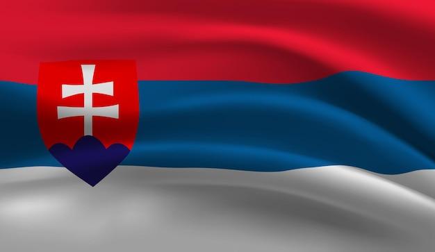 Abstrakter hintergrund der wehenden slowakischen flagge