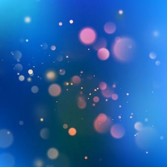 Abstrakter hintergrund des blauen bokeh.