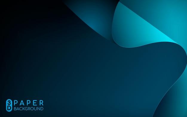 Abstrakter hintergrund des blauen papiers 3d