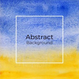 Abstrakter hintergrund des blauen und gelben aquarells