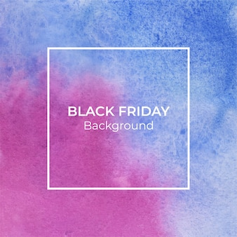 Abstrakter hintergrund des blauen und magentafarbenen schwarzen freitagsaquarells