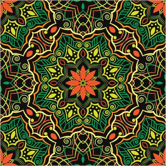 Abstrakter hintergrund des dekorativen mandala-entwurfs, nahtloses muster