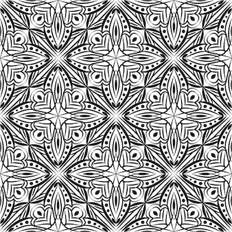 Abstrakter hintergrund des dekorativen mandala-entwurfs. nahtloses muster