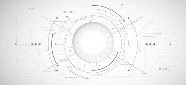 Abstrakter hintergrund des designs 3d mit technologie