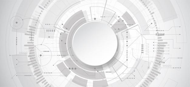 Abstrakter hintergrund des designs 3d mit technologiepunkt und -linie