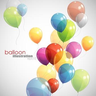 Abstrakter hintergrund des feiertags mit luftballons