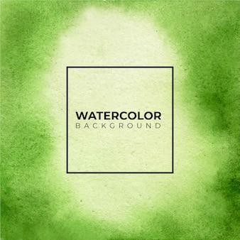 Abstrakter hintergrund des grünen aquarells. die pinselstrichgrafik zusammenfassung ..