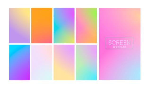 Abstrakter hintergrund des modernen gradientensatzes