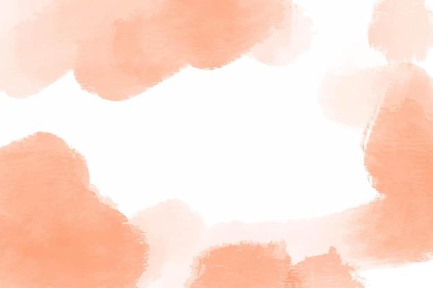 Abstrakter hintergrund des orangefarbenen aquarells